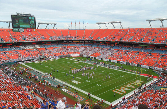 To Famous Sport Venues, High Quality Miami Limo and Luxurious Car Services - Driven Miami